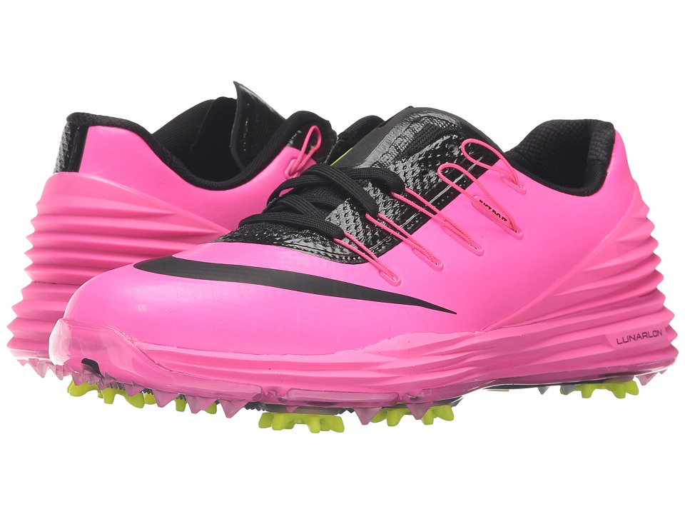 Nike Golf - Lunar Control 4 (Pink Blast/Volt/Black) Women's Golf Shoes