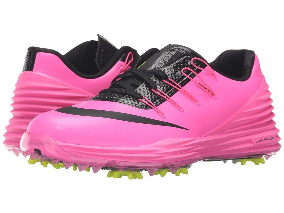 Nike Golf - Lunar Control 4 (Pink Blast/Volt/Black) Women...