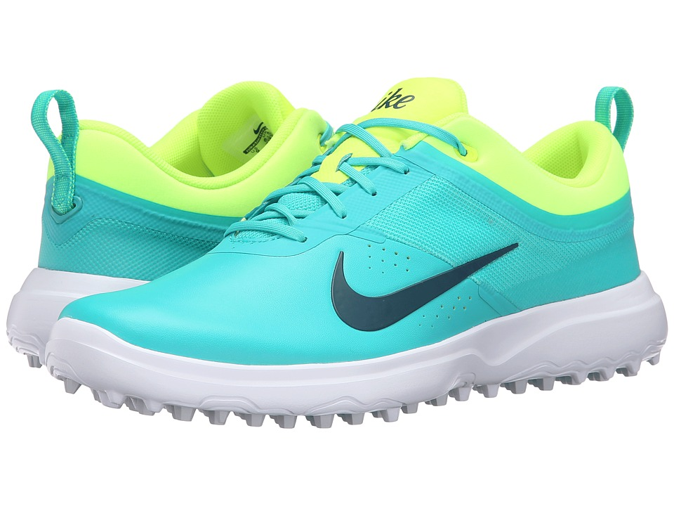 Nike Golf - AKAMAI (Clear Jade/Volt/White/Midnight Turquoise) Women's Golf Shoes