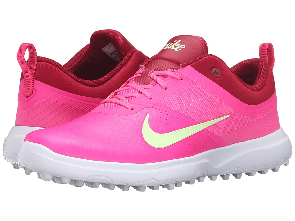Nike Golf - AKAMAI (Pink Blast/Noble Red/White/Barely Volt) Women's Golf Shoes