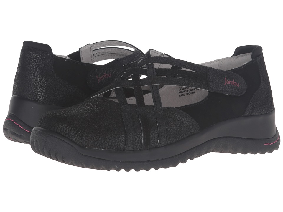 Jambu - Montana (Black) Women's Slip on Shoes