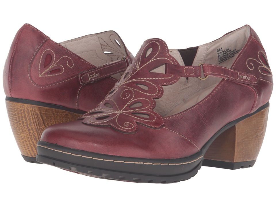 Jambu - Waywood (Deep Red) Women's 1-2 inch heel Shoes
