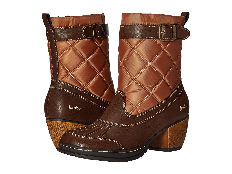 Jambu - Dover (Dark Brown/Tan) Women's Pull-on Boots