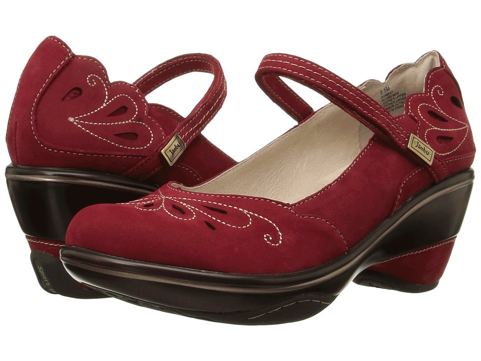 Jambu - Bombay (Deep Red/Tan) Women's Wedge Shoes