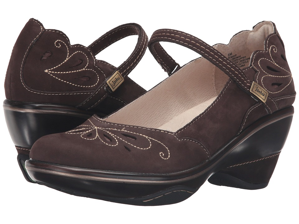 Jambu - Bombay (Dark Brown/Peach Amber) Women's Wedge Shoes