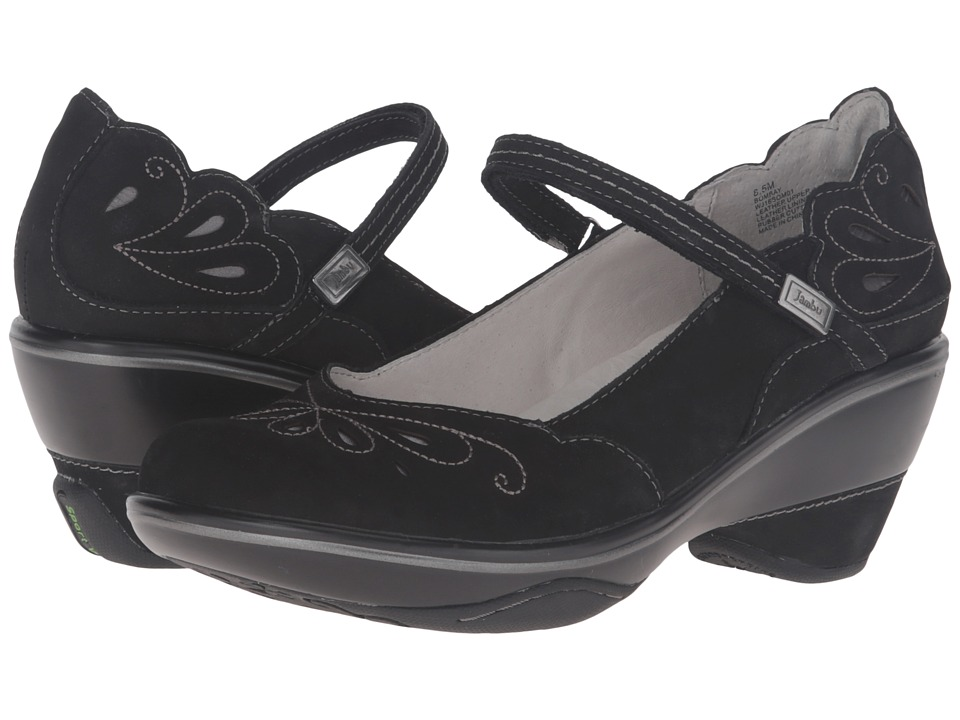 Jambu - Bombay (Black/Grey) Women's Wedge Shoes