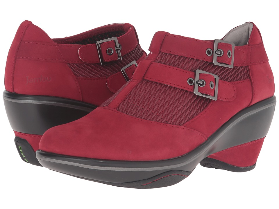 Jambu - Sylvie (Deep Red) Women's Wedge Shoes