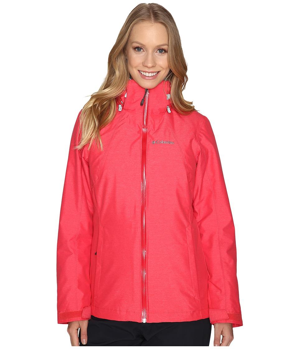 Columbia Whirlibirdtm Interchange Jacket (Red Camellia Cross Dye) Women