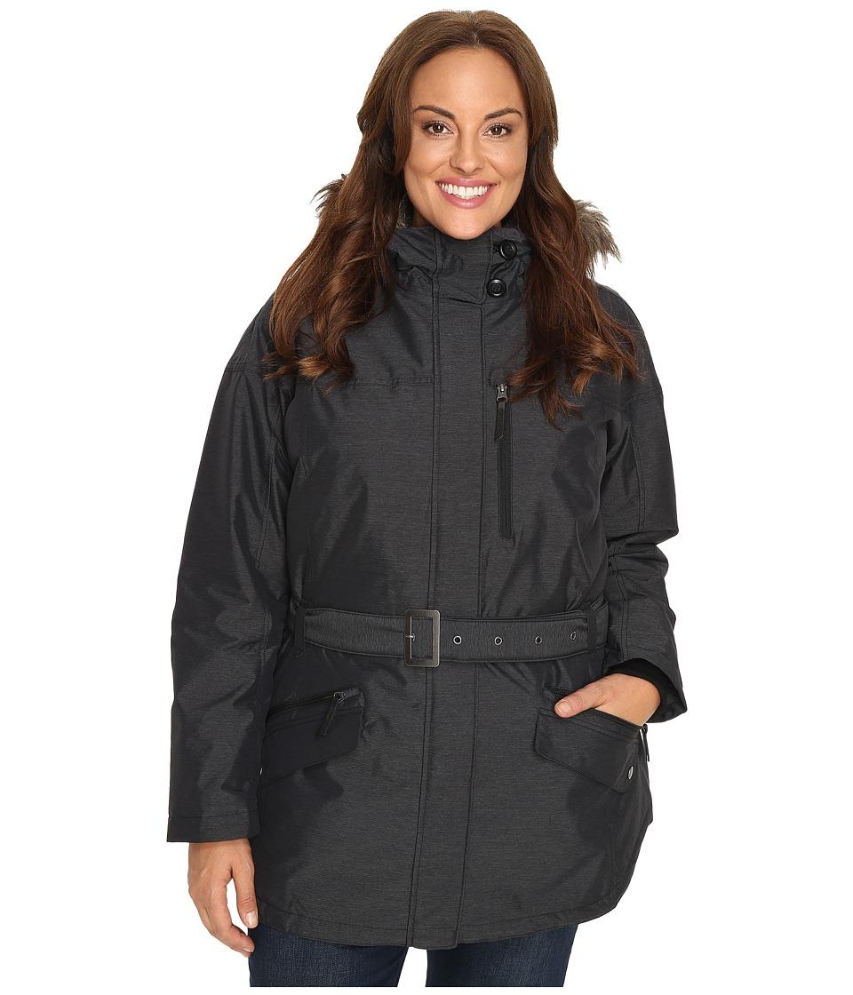 Columbia - Plus Size Carson Pass II Jacket (Black) Women's Coat