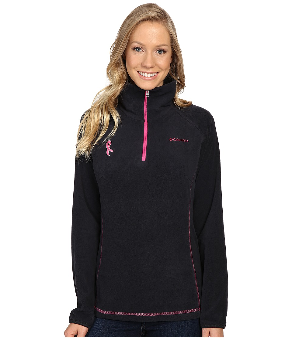Columbia - Tested Tough in Pink Fleece Half Zip (Black/Pink Ice) Women's Long Sleeve Pullover