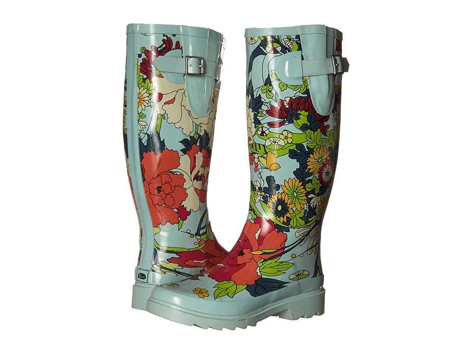 Sakroots - Rhythm (Seafoam Flower Power) Women's Rain Boots