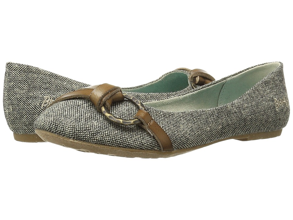 Blowfish - Rufio (Taupe Bespoke Canvas/Dyecut) Women's Slip on Shoes