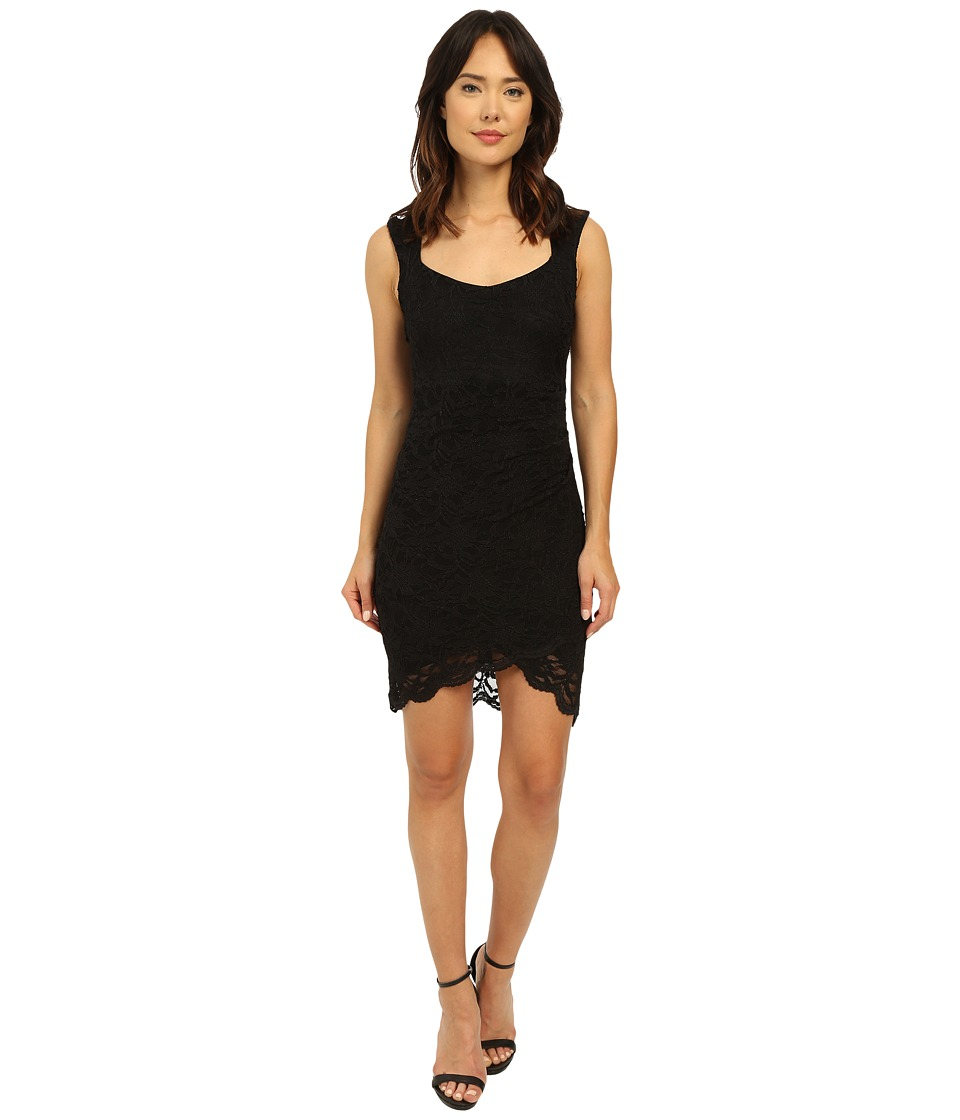 rsvp - Eleanor Mock Wrap Lace Dress (Black) Women's Dress