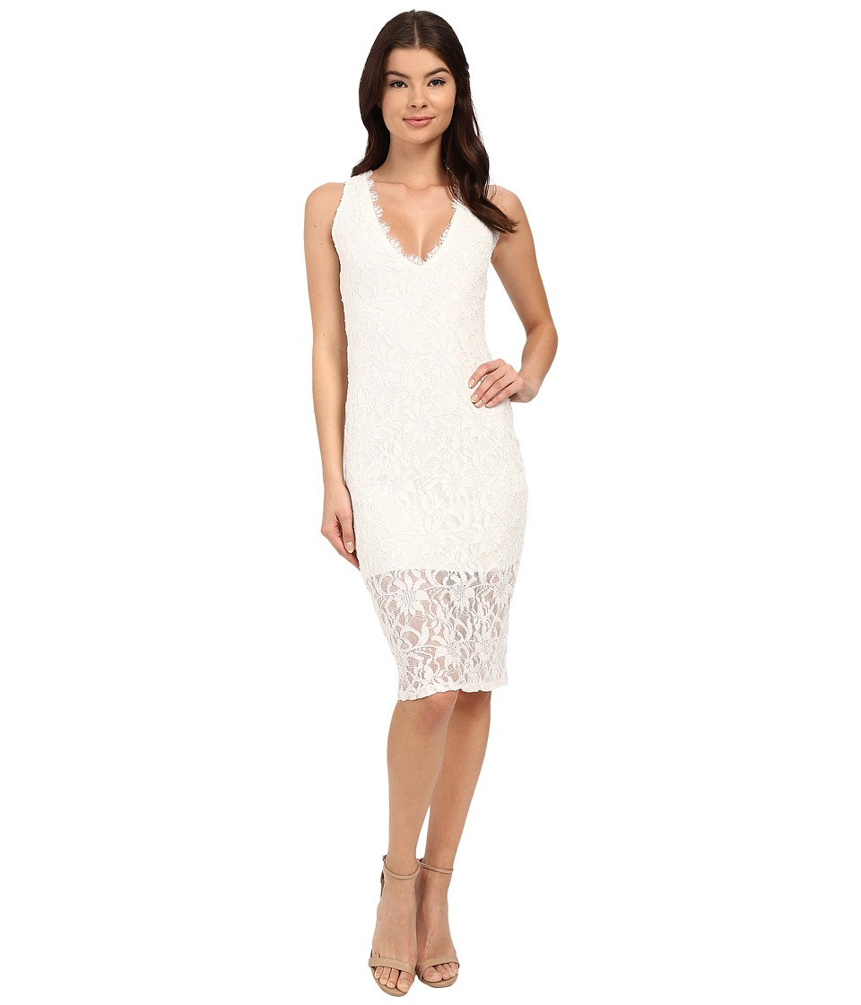 rsvp Imogen Open Back Midi Lace Dress (Ivory) Women