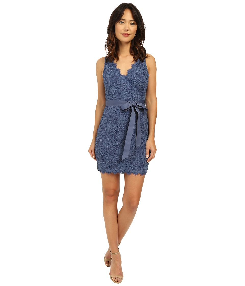 rsvp Hayley Stretch Mock Wrap Dress (Denim) Women