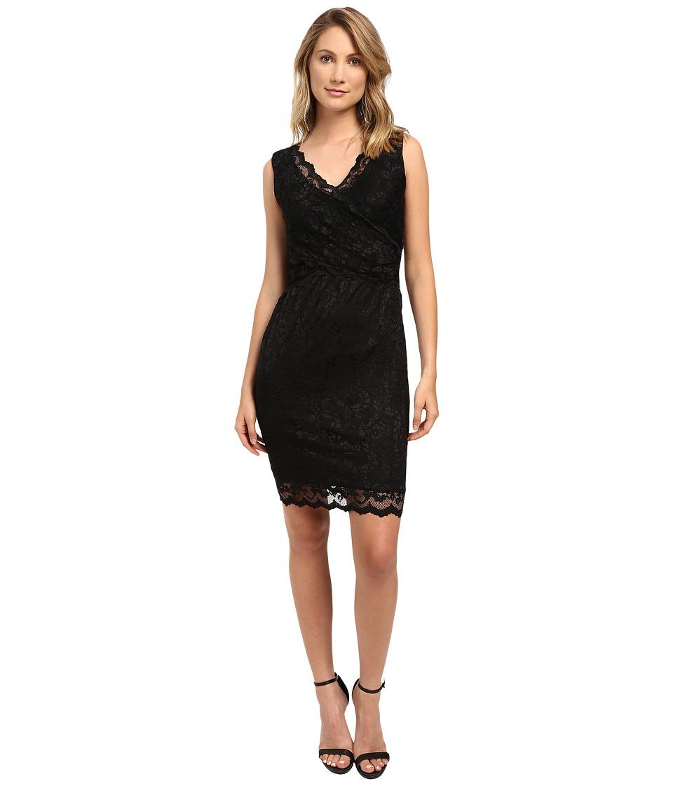 rsvp - Short Margaux Lace Sleeveless Dress (Black) Women's Dress