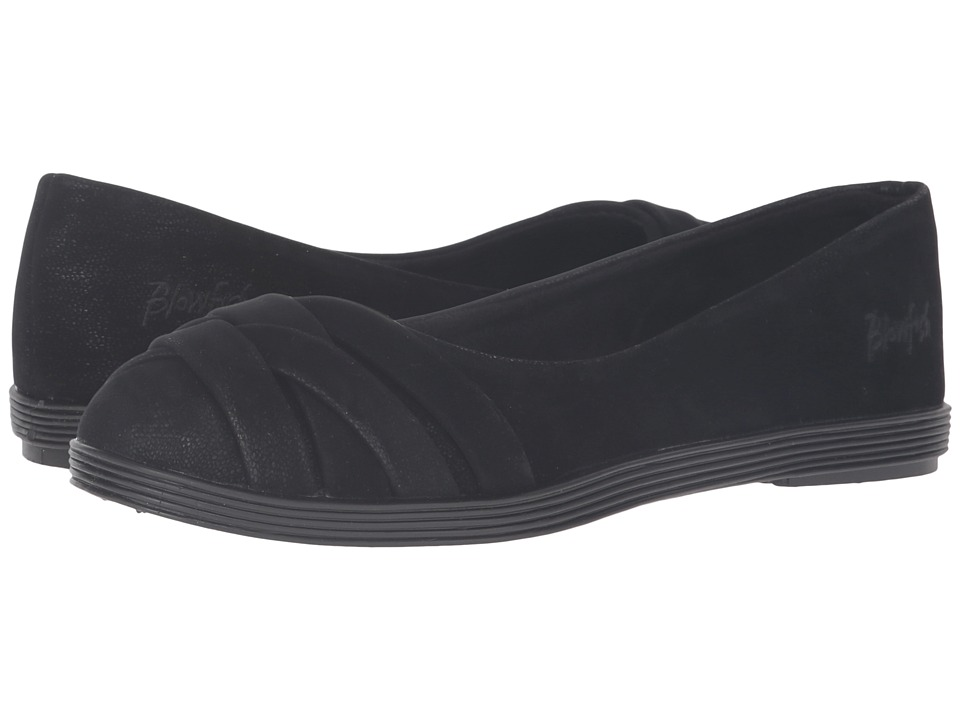 Blowfish - Glo 2 (Black Fawn PU) Women's Slip on Shoes