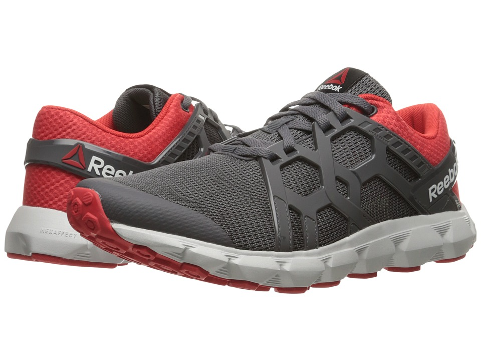 Reebok Hexaffect Run 4.0 MTM (Ash Grey/Riot Red/Steel) Men
