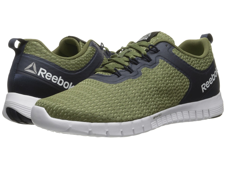 Reebok - ZQuick Lite (Canopy Green/Poplar Green/Collegiate Navy/White) Men's Running Shoes