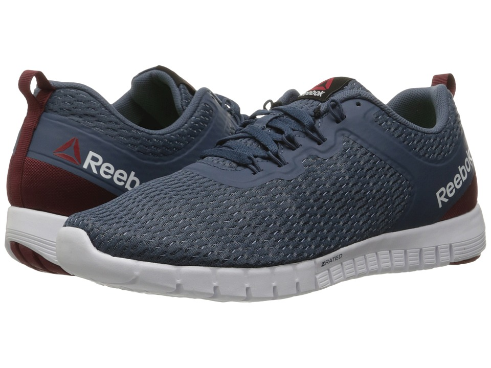 Reebok - ZQuick Lite (Slate/Royal Slate/Merlot/White) Men's Running Shoes