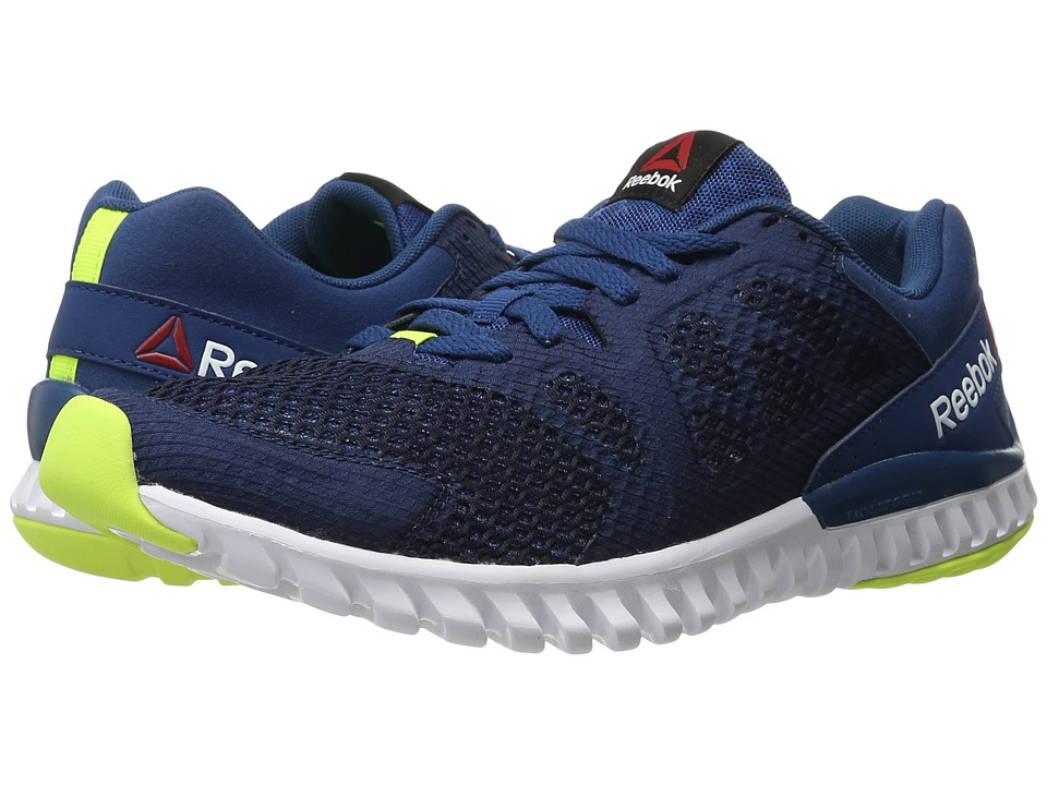 Reebok - Twistform Blaze 2.0 MTM (Noble Blue/Collegiate Navy/White/Solar Yellow) Men's Running Shoes