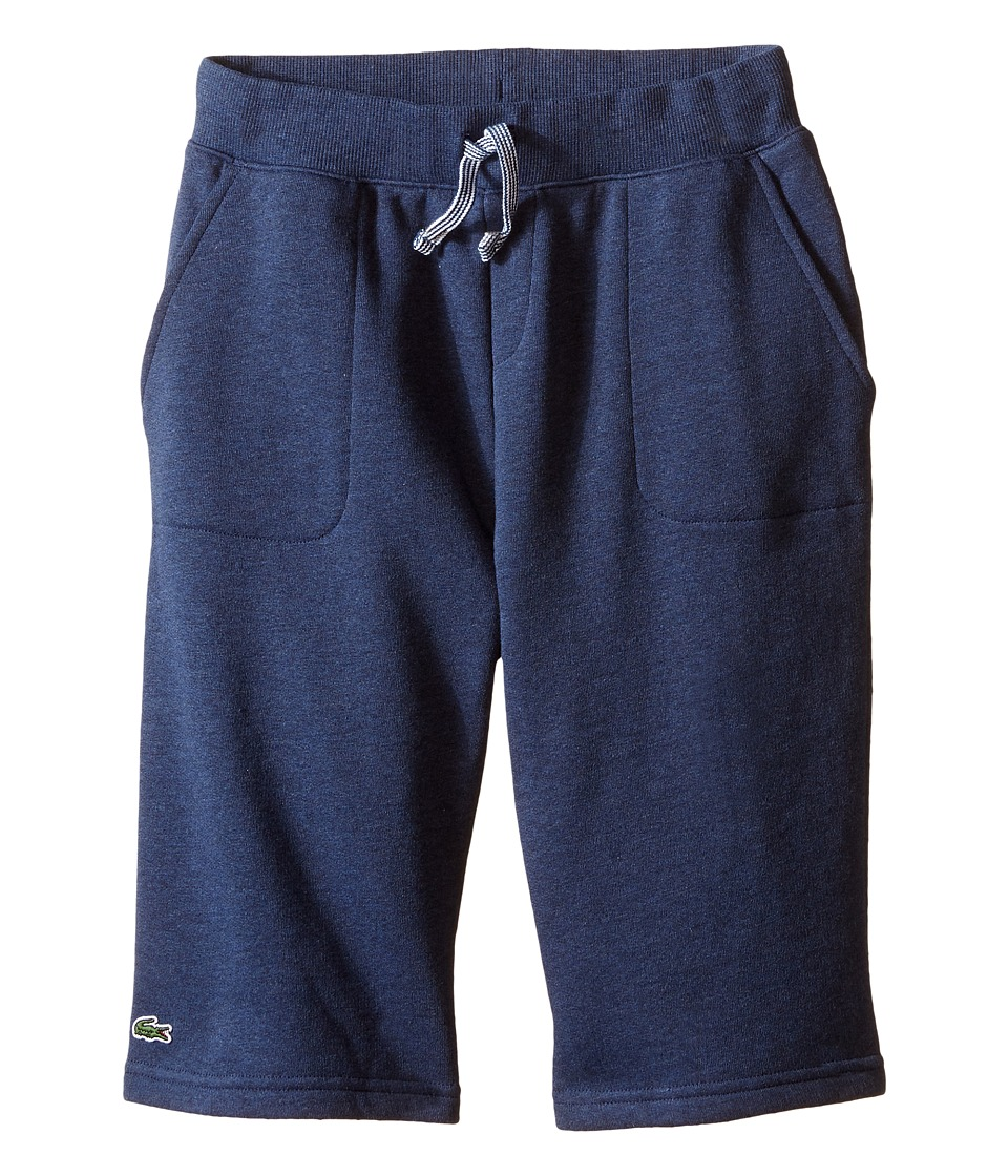 Lacoste Kids - Knit Chine Fleece Short (Toddler/Little Kids/Big Kids) (Ship Chine) Boy's Shorts