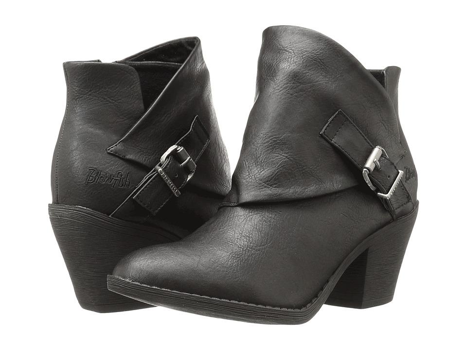Blowfish - Suba (Black Old Ranger PU) Women's Zip Boots