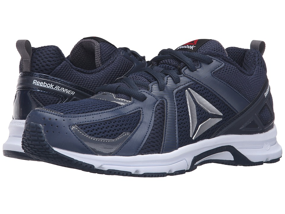 Reebok - Runner (Collegiate Navy/Ash Grey/White/Silver) Men's Running Shoes
