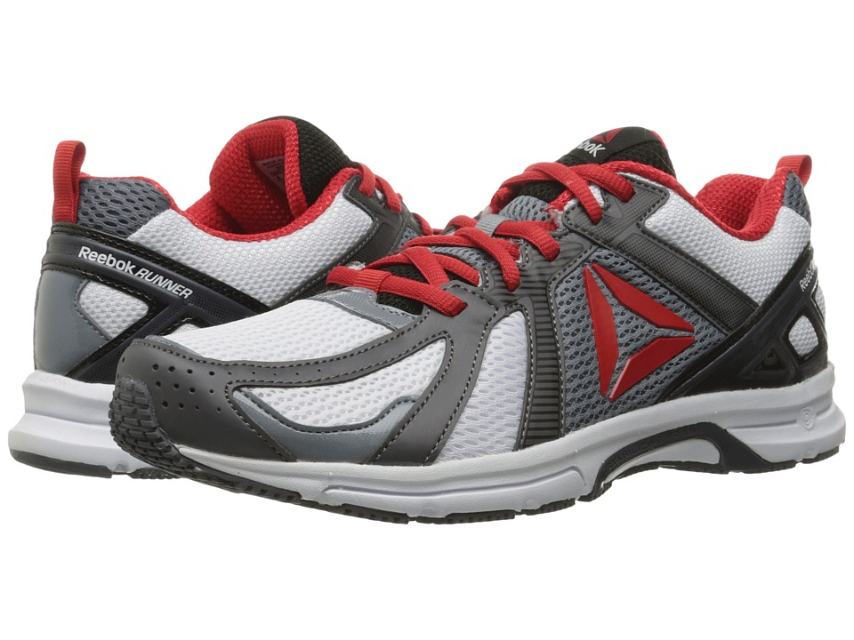 Reebok - Runner (White/Ash Grey/Asteroid Dust/Black/Riot Red) Men's Running Shoes