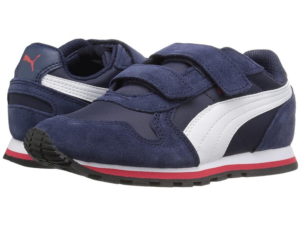 Puma Kids - ST Runner NL V PS (Little Kid) (Peacoat/Puma White/High Risk Red) Boys Shoes