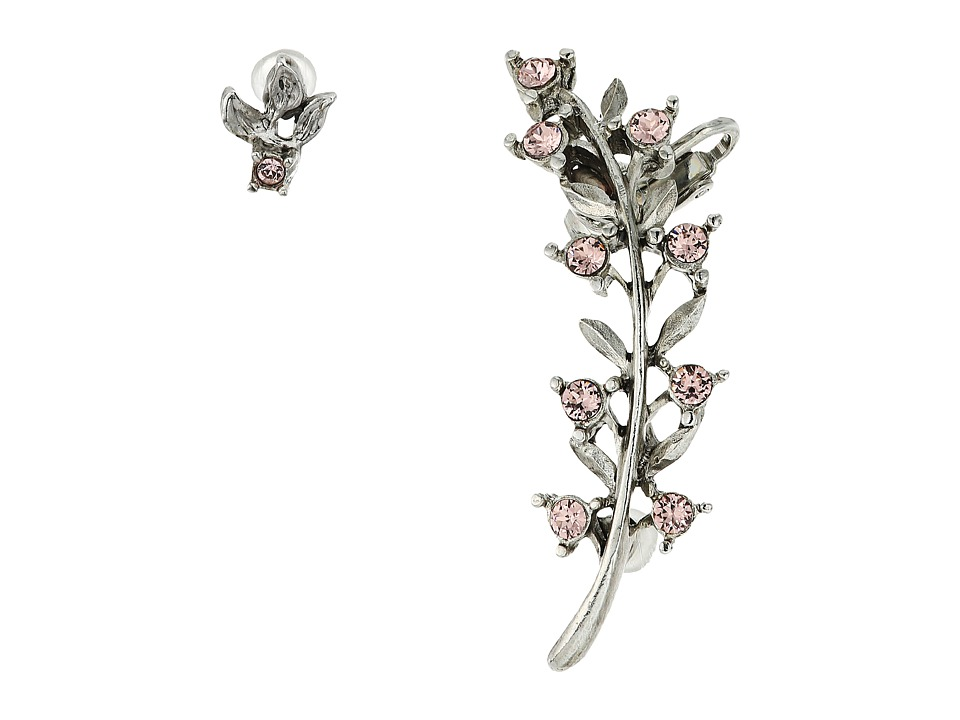Oscar de la Renta - Crystal Leaf P Ear Cuff (Soft Petal) Earring