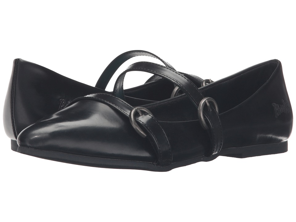 Blowfish - Zaza (Black Box Top Ruboff PU) Women's Maryjane Shoes