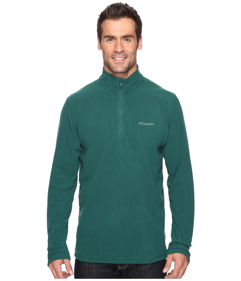 Columbia - Klamath Range II Half Zip (Wildwood Green) Men's Long Sleeve Pullover