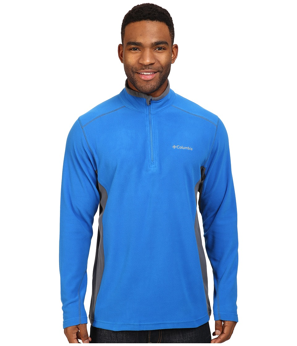 Columbia - Klamath Range II Half Zip (Super Blue/Graphite) Men's Long Sleeve Pullover