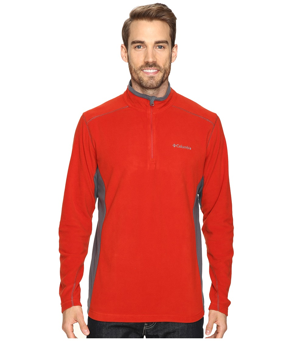 Columbia - Klamath Range II Half Zip (Rust Red/Graphite) Men's Long Sleeve Pullover