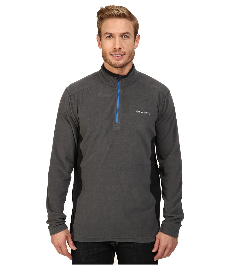 Columbia - Klamath Range II Half Zip (Grill/Black 1) Men's Long Sleeve Pullover