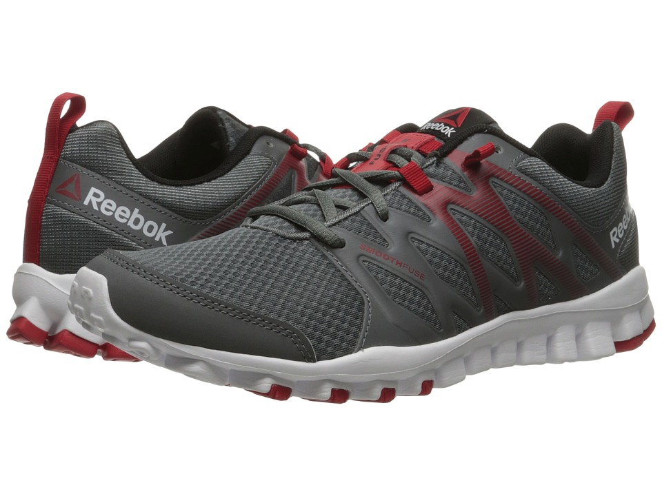 Reebok - RealFlex Train 4.0 (Alloy/Excellent Red/White/Black) Men's Cross Training Shoes