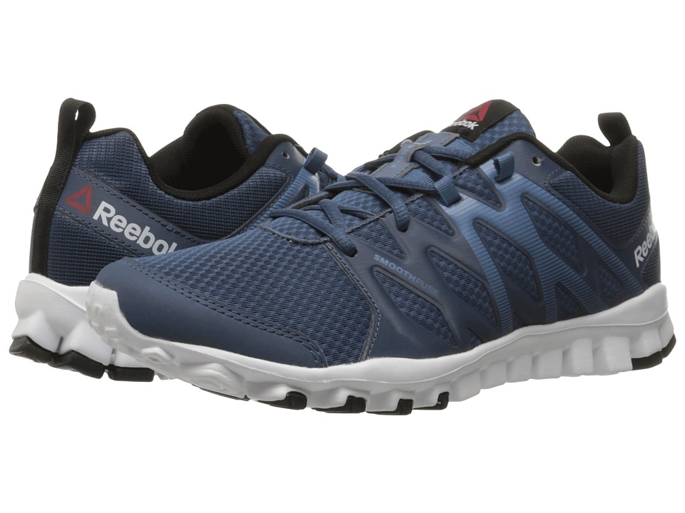 Reebok - RealFlex Train 4.0 (Royal Slate/Slate/White/Black) Men's Cross Training Shoes