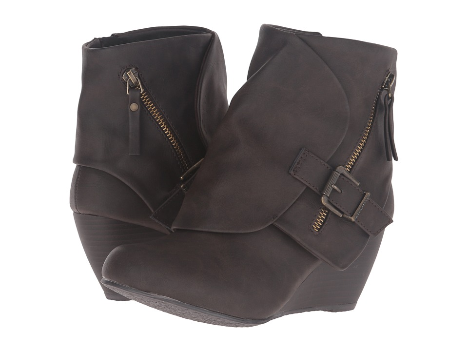 Blowfish - Bilocate (Brown Texas PU) Women's Dress Zip Boots
