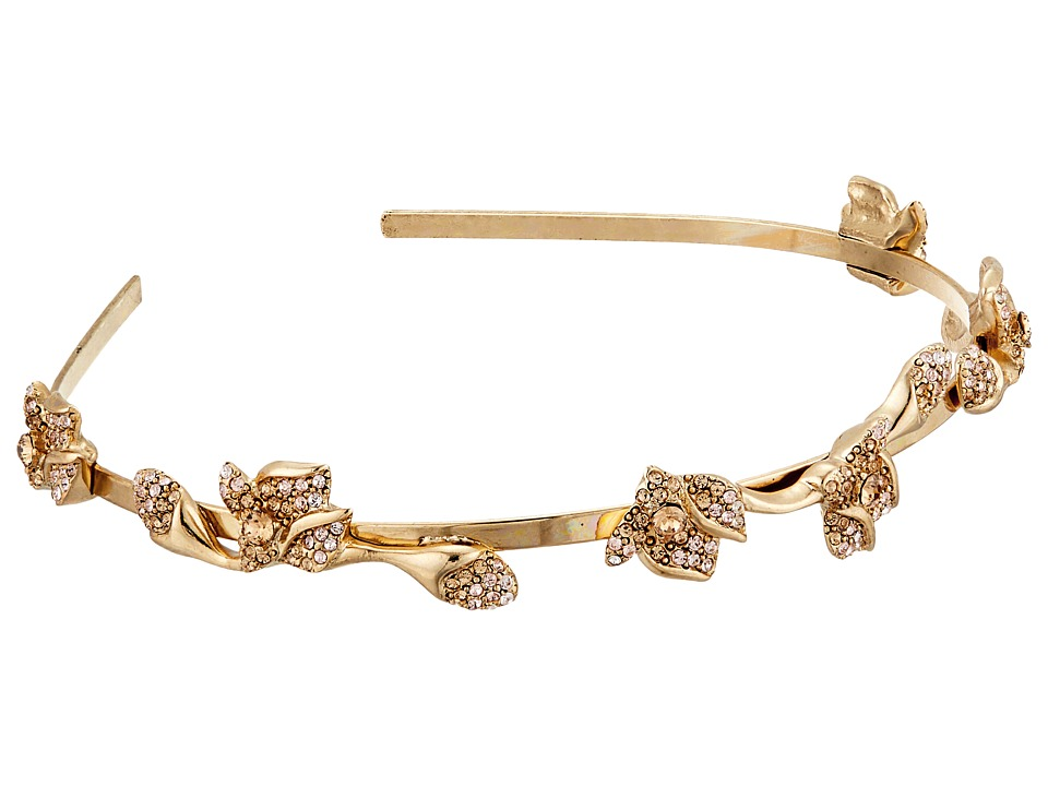 Oscar de la Renta - Gradient Crystal Flower Headband (Cry Gold Shadow) Headband