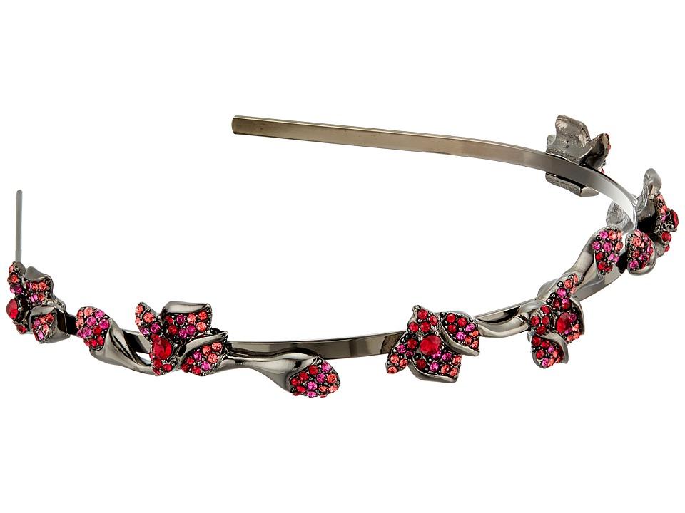 Oscar de la Renta - Gradient Crystal Flower Headband (Poppy) Headband