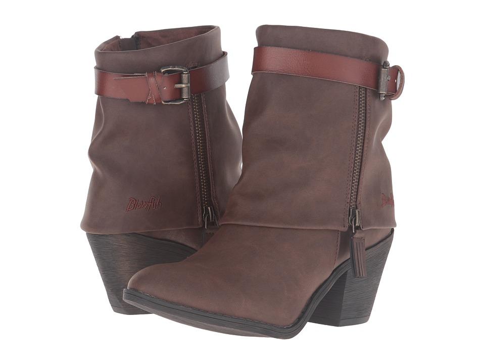 Blowfish - Shocks (Coffee Texas PU/Whiskey Duecut PU) Women's Zip Boots