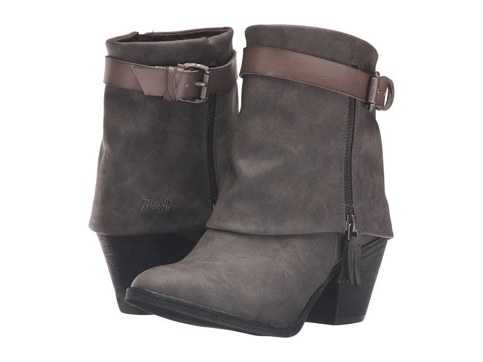Blowfish - Shocks (Grey Texas PU/Grey Dyecut PU) Women's Zip Boots