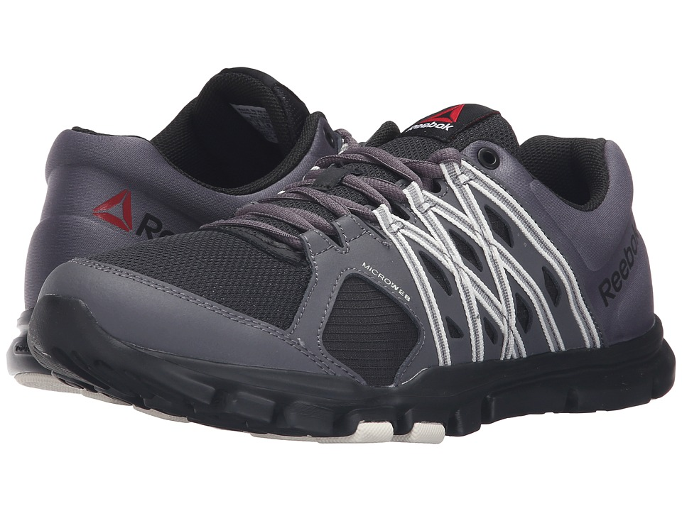 Reebok - Yourflex Train 8.0 L MT (Stealth/Black/Ash Grey/Chalk) Men's Cross Training Shoes
