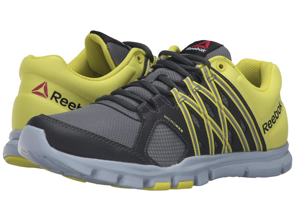Reebok - Yourflex Train 8.0 L MT (Alloy/Coal/Hero Yellow/Cloud Grey) Men's Cross Training Shoes