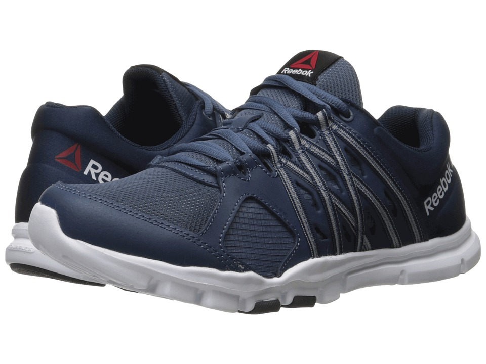 Reebok - Yourflex Train 8.0 L MT (Royal Slate/Collegiate Navy/White) Men's Cross Training Shoes