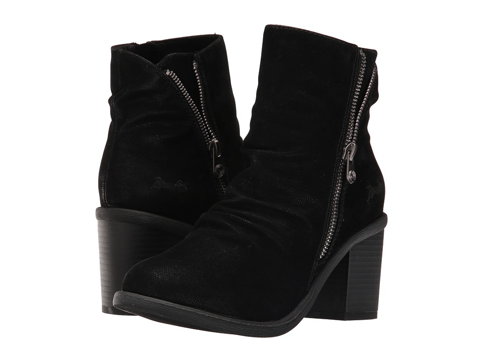 Blowfish - Mover (Black Fawn PU) Women's Zip Boots