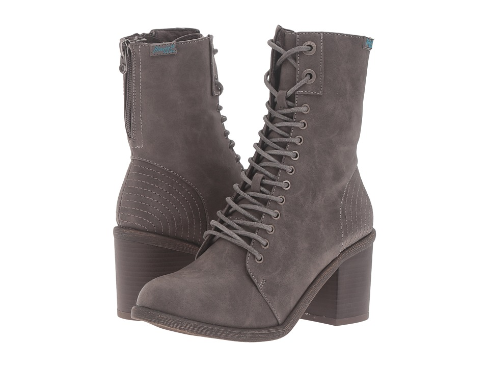 Blowfish - Mammer (Grey Texas PU) Women's Lace-up Boots