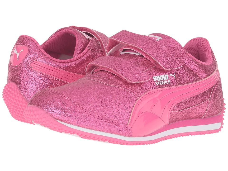 Puma Kids Steeple Glitz Glam V PS (Little Kid/Big Kid) (Fandango Pink) Girls Shoes