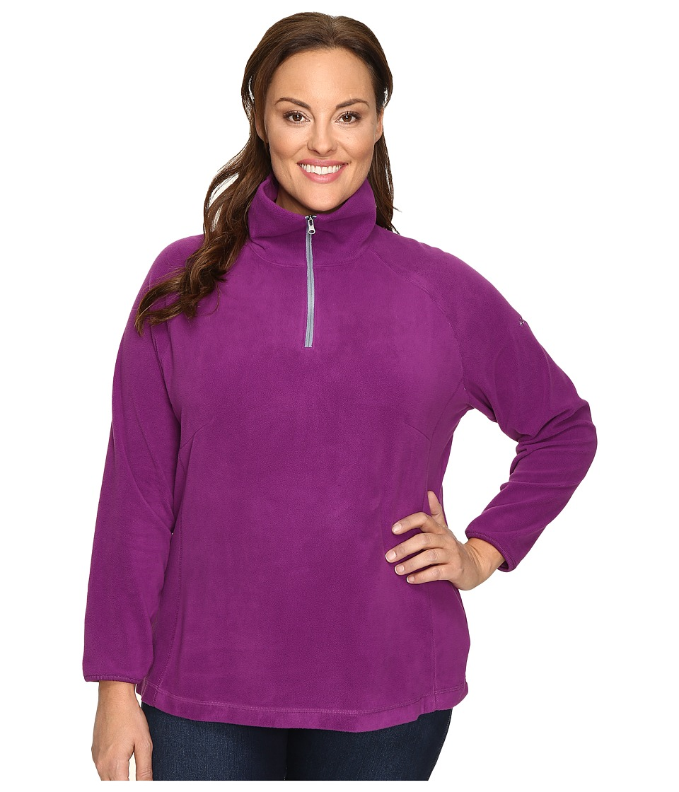 Columbia - Plus Size Glacial Fleece III 1/2 Zip (Plum) Women's Fleece